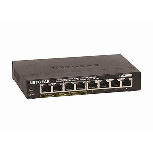 8-Port Gigabit Ethernet Switch with 4-Port PoE