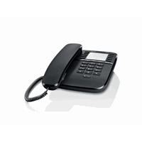 Gigaset DA510 desk phone without display, caller ID and handsfree Black